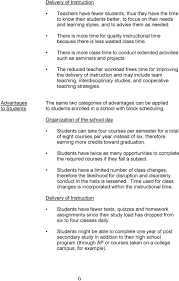 Block Scheduling Colleges Advantages And Disadvantages Of The Block Schedule Pdf