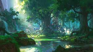 Free download Anime Forest Scenery 4K ...