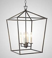 Large light fixtures High Ceiling Image Unavailable Homedit Steel Cage Large Lantern Iron Art Design Candlestyle Chandelier