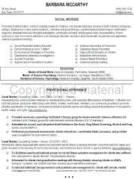 Social Services Resume Objective Pattern Social Work Resume Goals