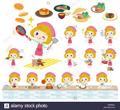 Girl Cutting Birthday Cake Stock Vector Images Alamy