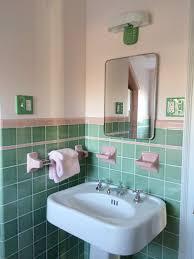 vintage green and pink bathroom