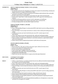 Apparel Merchandiser Resume Samples Velvet Jobs