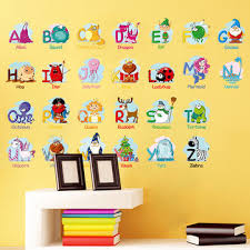 background alphabet wall stickers