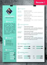 Cool Resume Templates Free Artistic Graphic Creative Template ...
