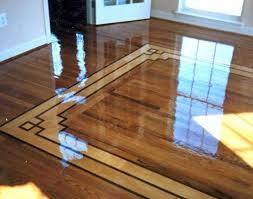 Wood floor inlay designs Homes Floor Plans
