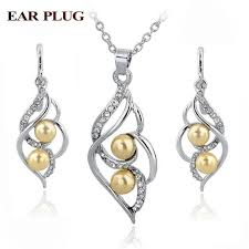 <b>Simulated Pearl</b> Indian Wedding Jewelry Sets Bridal Crystal Gold ...