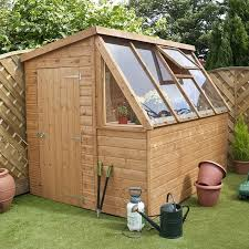 image to enlarge 8 x 6 waltons tongue and groove potting shed wooden greenhouse