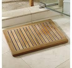 rounded-corner-rectangular-teak-shower-mat