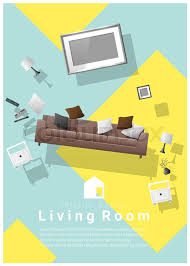 colorful furniture for sale. Vertical Interior Banner Sale With Living Room Furniture Hovering On  Colorful Background , Vector Illustration | Stock Vector Colourbox For R