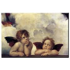 xdr485 printed hand oil painting reion of raphael famous artist oil painting master portrait painting two little angels a in painting calligraphy