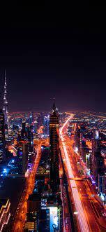 1125x2436 Dubai Cityscape Buildings ...