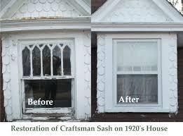restoration of craftsman sash on 1920 s house