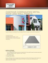 contour corrugated metal roof and wall panels 1 2 pages