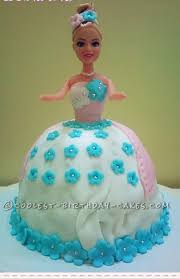 Coolest Fondant Barbie Doll Cake