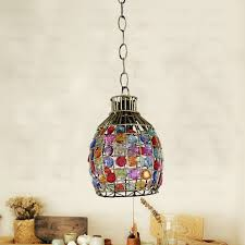 handmade beaded small pendant lights wrought iron fixture