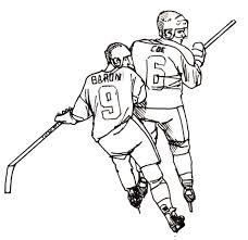Hockeyspelers Kleurplaat Gratis Kleurplaten Printen