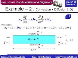 convection diffusion 1d you