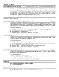 Sales Manager Resume Sample Car Simple Auto | Urbanmolecule.me