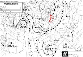 Surface Analysis Chart Of The Uk Meteorological Office On 27