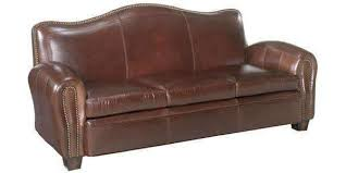 Leather Furniture Jonathan Camelback Sofa With Nail Trim Camelback Sofas For Sale40