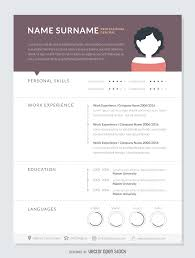 graphic designer resume cv vector professional curriculum mockup template