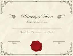 Free Printable Degree Certificates Templates Design Phd