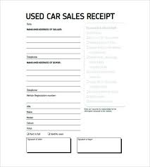 Used Car Invoice Template Example Sales Format Sale Receipt Free ...