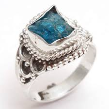 Silver Stone Ring Designs Amazon Com Fathers Day Sale Apatite Gemstone Ring 925