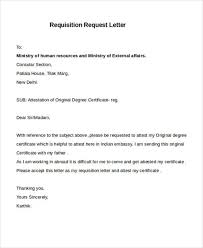 23 Requisition Letter Samples Sample Templates
