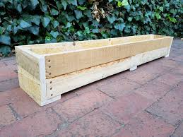 1 2 meter wooden planter boxes