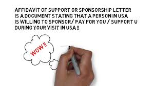 Usa Visa Sponsorship Letter- Form I134- Usa Visa Affidavit Of ...