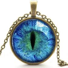 blue cat s eye pendant necklace