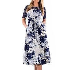 2018 Big Size Rose Flower Print Long Dress Maxi Autumn Winter ...