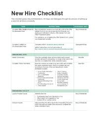 50 Useful New Hire Checklist Templates Forms Template Lab