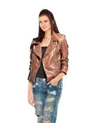 leather biker jacket open front 3