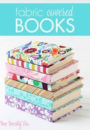 fabric covered books dress up an old notebook or even a regular book with