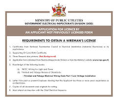 Application Wireman Licence Application Form