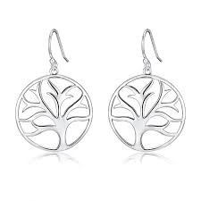 Highly Polished Sterling Silver Filigree Tree of Life Dangle ...