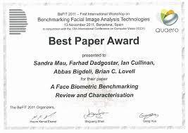 Best Paper Award Certificate Template Best Paper Award Certificate