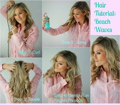 easy beachy waves tutorials for hair hair tutorial beach wave diy and easy