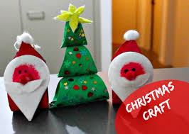 Easy Christmas Crafts For Kids Tree Plaque  Mod Podge RocksChristmas Crafts Made With Toilet Paper Rolls
