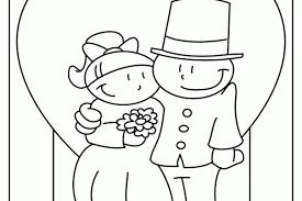 Kleurplaat Voor Bruidspaar Trouwen Huwelijk Kleurplaten Zoentje