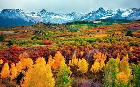 autumn mountains backgrounds. Autumn Colors Colorado Osen Les Zheltye Listya Gory Snow Fall Mountains Trees Desktop Backgrounds W