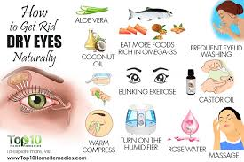 here are the top 10 ways to get rid of dry eyes naturally