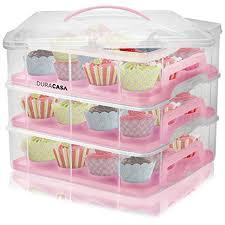 36 Cupcake Carrier Enchanting Amazon DuraCasa Cupcake Carrier Cupcake Holder Store Up To