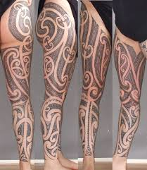 Maori Tattoo Right Leg For Completeness Sake A Picture Of Flickr