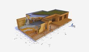 un plan de coupe pour une maison ossature bois projet bois réalise en vendée 85