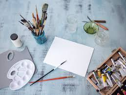 set up your canvas and supplies