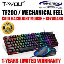 <b>T</b>-<b>WOLF TF200</b> / T20 / TF230 / V1 GAMING <b>KEYBOARD</b> MOUSE ...